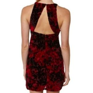 Somedays Lovin Dress M Crushed Velvet Red NEW